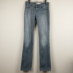 Freedom of choice straight grey low rise jeans 26